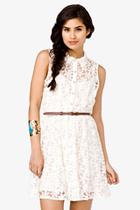 Forever 21 Belted White Dress