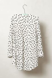 Spotted Brunia Henley Anthropologie