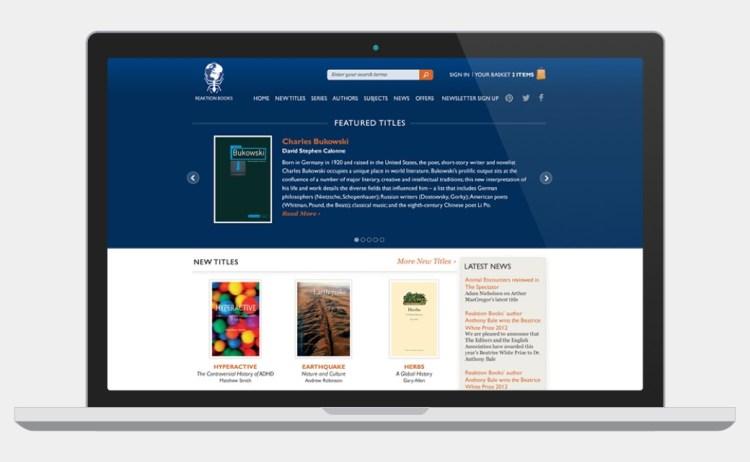 Reaktion Books website screenshot