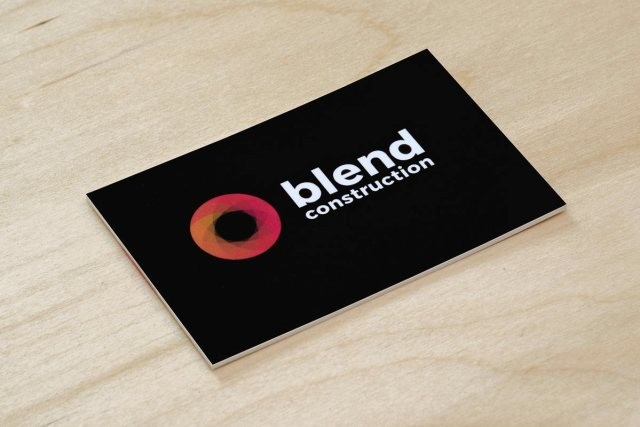 Blend Construction business card back