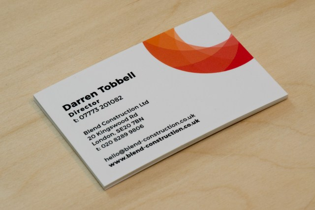 Blend Construction business card
