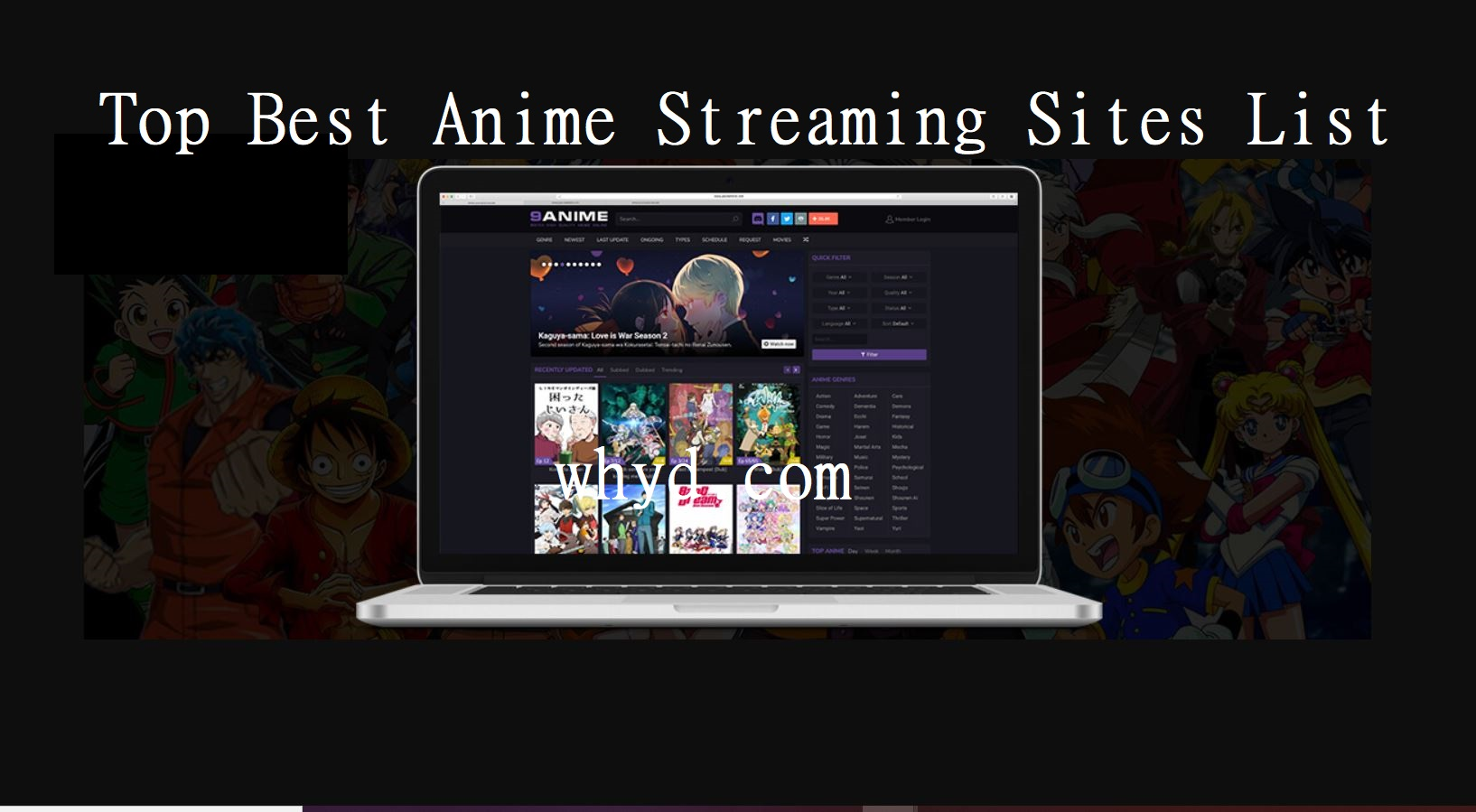 Best Anime Streaming Sites List