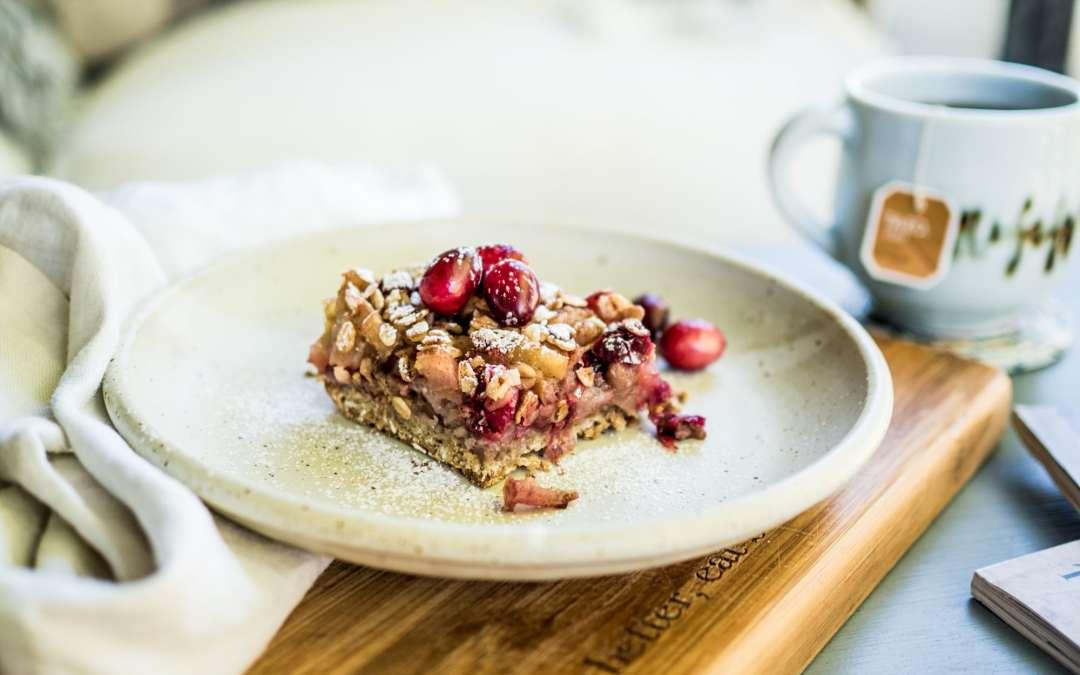 Cranberry walnut breakfast bars