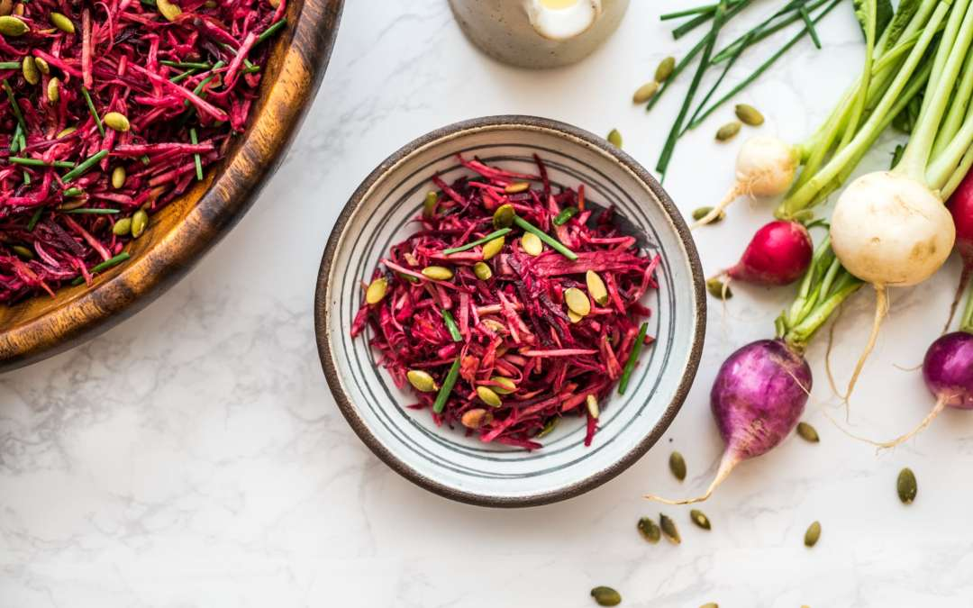 Beet & apple slaw