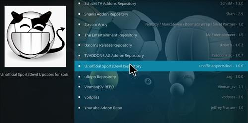 How to Install SportsDevil Add-on KODI 17 Krypton step 16