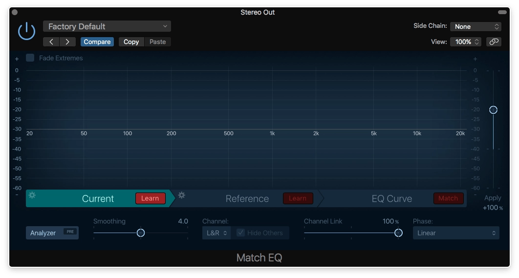 Logic Pro X Match EQ Current Learn