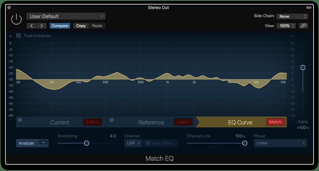 Logic Pro X Match EQ Reference 2