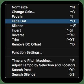 Logic Pro X Audio File Editor Functions