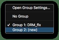 Logic Pro X New Group Menu