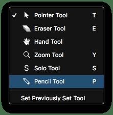 Logic Pro X Tool Menu Pencil Tool
