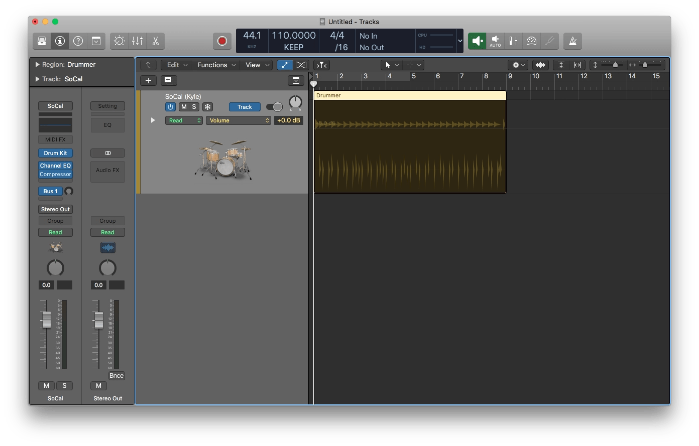 Logic Pro X Automation Key Command A