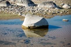 Rock's Shadowed Reflection