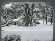 Winter View Front Porch