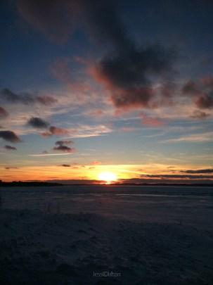 dark cloud sunset