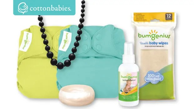 "CottonBabies Bumgenius products can be purchased here ==/> http://amzn.to/2ph0Zj4 #babyshower #MothersDay #givaway #sweeps"" width=""639″ height=""361″></a></p> <p><strong>Description</strong>: NEW! bumGenius Elemental One-Size Cloth Diaper: Organic, natural fibers next to your baby's bottom: It's elemental! Our newly improved, one-size, one-piece diaper features multiple layers of luxuriously soft, 100% organic cotton, making it the ideal, natural solution that doesn't compromise performance.</p> <p>MilkDaze Nursing and Teething Jewelry is a baby-friendly accessory for mom. These trendy necklaces and bangles not only keep mama stylish, but are safe and soft for your baby's tender gums and a wonderful sensory tool to help your little one focus while feeding.</p> <p>bumGenius Flannel Wipes are an inexpensive way to clean baby's bottom. Reusable, natural and unbleached, these soft baby wipes are gentle on baby's skin. Use them for diapering, hand wipes and runny noses.</p> <p>Our bumGenius Bottom Cleaner is a fresh and natural spray that gently cleans your baby's bum. Spray on, wipe off. The new formula is 100% natural and soothing to sore skin. The light, clementine scent cuts down on inevitable odors present during diaper changes. Recommended for use with bumGenius™ Flannel Baby Wipes for a natural, cost-saving alternative to disposable wipes. You can also use bumGenius Bottom Cleaner to boost the effectiveness of your disposable wipes. Helpful when cleaning up toddler accidents or as a personal cleanser for parents.</td> </tr> </tbody> </table> <table class="