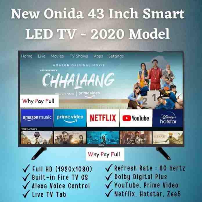 New Onida 43 Inch Smart LED TV - 2020 Model (2)