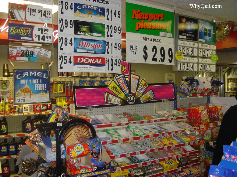 Candy and tobacco display