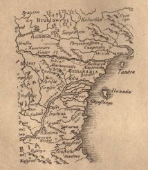 Map of Dobruca by Johannis Baptista Homanni (XVII)