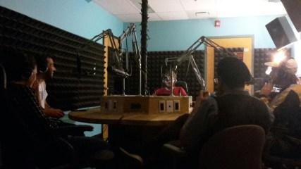 Radio studio in QC