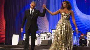 President Obama and first lady Michelle Obama at Congressional Black Caucus Foundation's awards dinner on Sept.17, 2016 in Washington, DC. (Photo: CHRIS KLEPONIS, AFP/Getty Images)