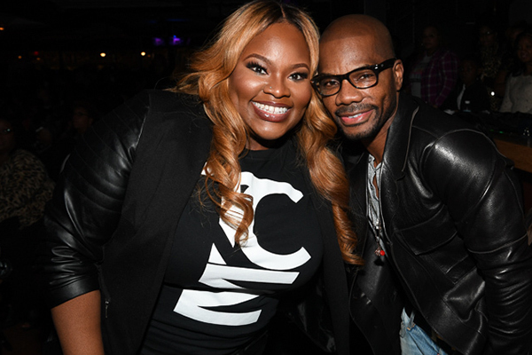 Tasha Cobbs poses with Kirk Franklin at her Haiti Benefit Concert Monday, November 14, 2016 (Photo Credit: Paras Griffin)