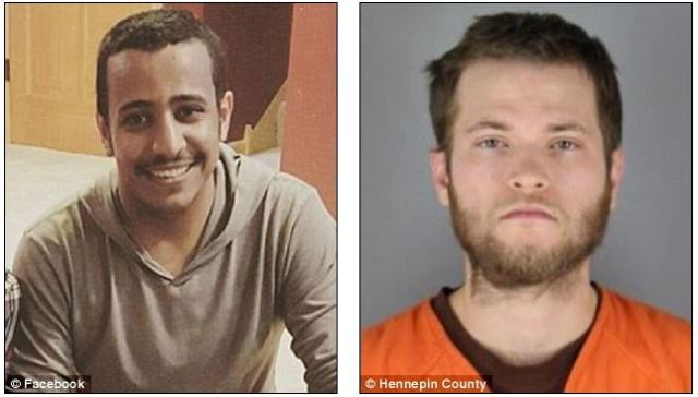 Hussain Saeed Alnahdi, 24, left, died of his injuries the next day at a hospital in nearby Eau Claire. Suspect Cullen Osburn, right, was arrested as a suspect in his murder.