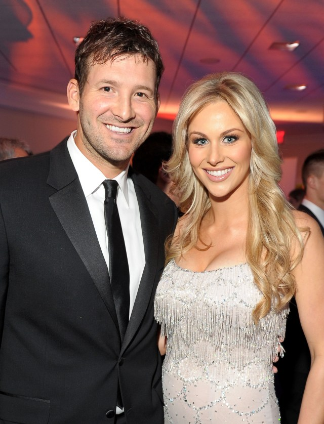 WASHINGTON, DC - APRIL 28: NFL player Tony Romo and Candice Crawford attend TIME/PEOPLE/FORTUNE/CNN White House Correspondents' Association Dinner Cocktail Party at the Hilton Hotel on April 28, 2012 in Washington, DC.  (Photo by Michael Loccisano/Getty Images for People)