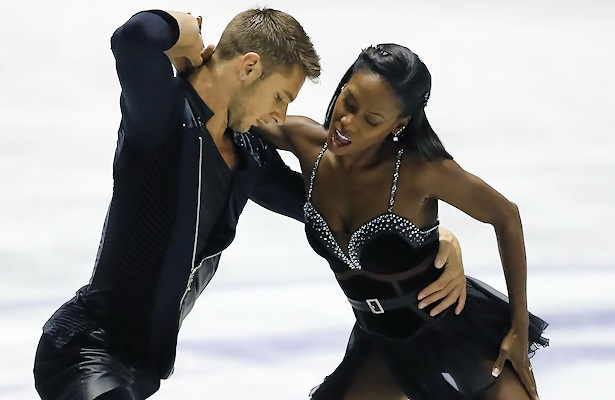Vanessa James and Morgan Cipres of France perform their Short Program at the 2017 World Team Trophy.