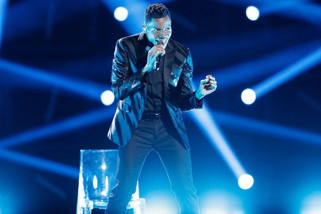 "THE VOICE -- ""Live Finale"" Episode 1219A -- Pictured: Chris Blue -- (Photo by: Tyler Golden/NBC/NBCU Photo Bank via Getty Images)"