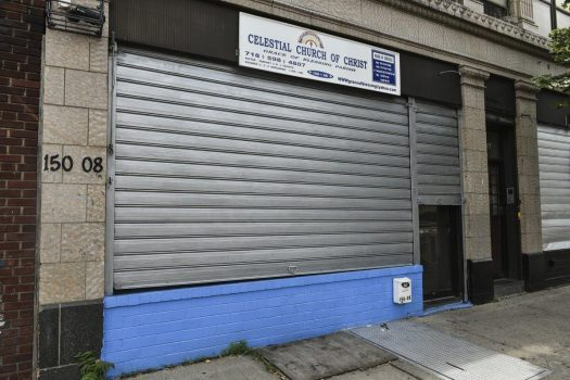 The woman was walking about a half-block away from the Celestial Church of Christ when a man came up from behind, put a gun to her head and demanded all her cash. (GO NAKAMURA/NEW YORK DAILY NEWS)