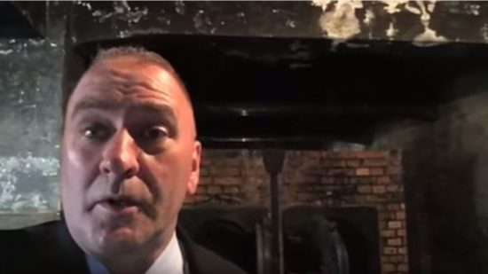 """It's hard to walk away from gas chambers and ovens without a sober feeling of commitment … to make damn sure that the United States of America is protected from the evils of the world,"" Rep. Clay Higgins said in the video filmed at Auschwitz."