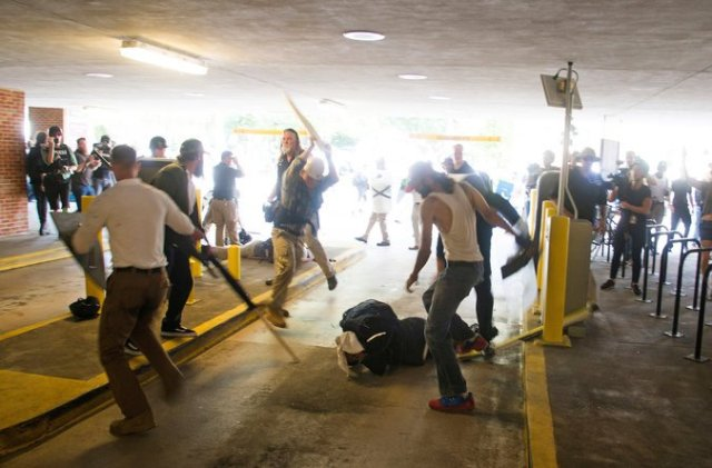"The beating of DeAndre Harris on the day of the ""Unite the Right"" rally in Charlottesville, Va., was caught on video. Two men have been charged in connection with the attack. Zach D. Roberts, via Associated Press"