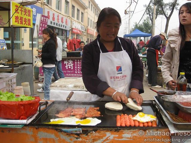 Street food in Xi'an, China