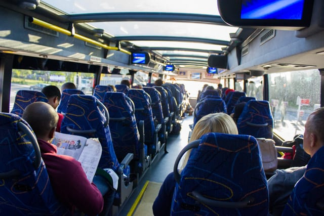Interior of a Megabus - East Coast Busses, Which One is Better?