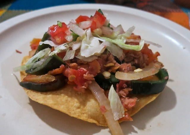 A Tostada on Our Vallarta Eats Tour