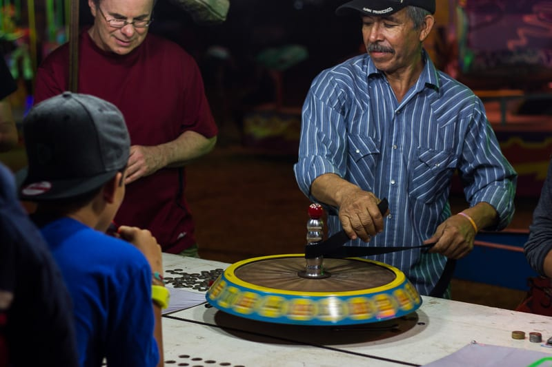 Playing Roulette at Sayulita Days Carnival