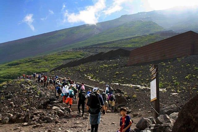 The start of the trail to summit Mt. Fuji