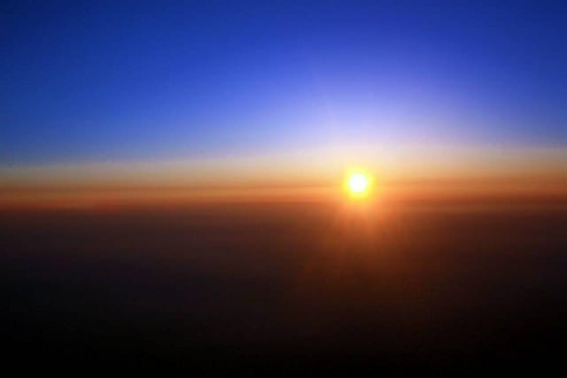 The View of the Sun Rise from Mt. Fuji - How to Summit Mt. Fuji
