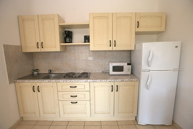 A Kitchen in An Apartment Rental in the Caribbean - How to Travel the Caribbean on a Budget