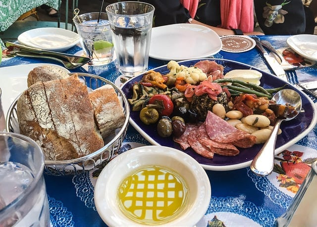 An Antipasto Plate - Don't Book Culinary Travel During Third Trimester