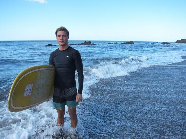 Surfing Outside of Leon, Nicaragua