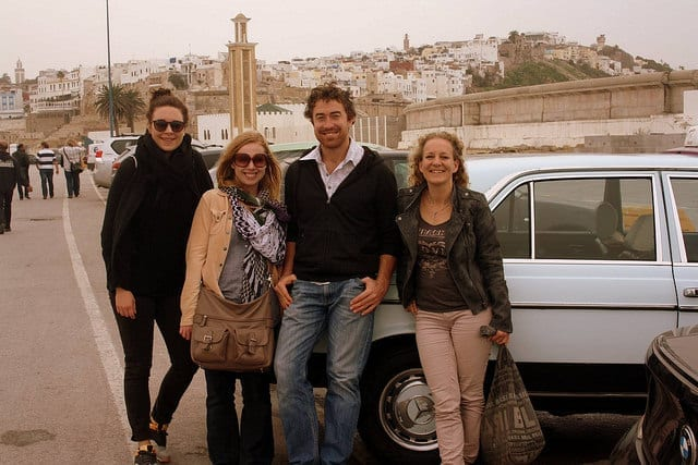 My Husband and I with Friends We Met on the Road - How to Meet People While Traveling as a Couple