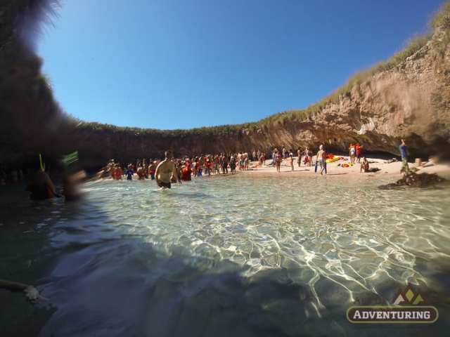 The PACKED Beach at Marieta Islands