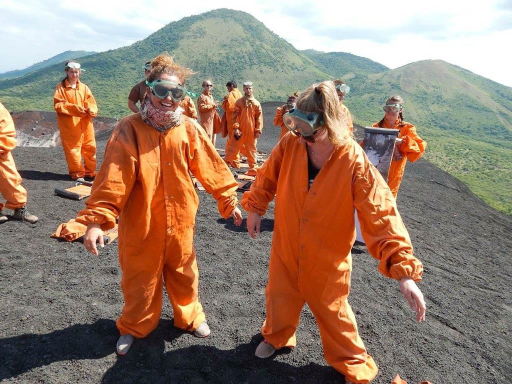 Suits for volcano boarding