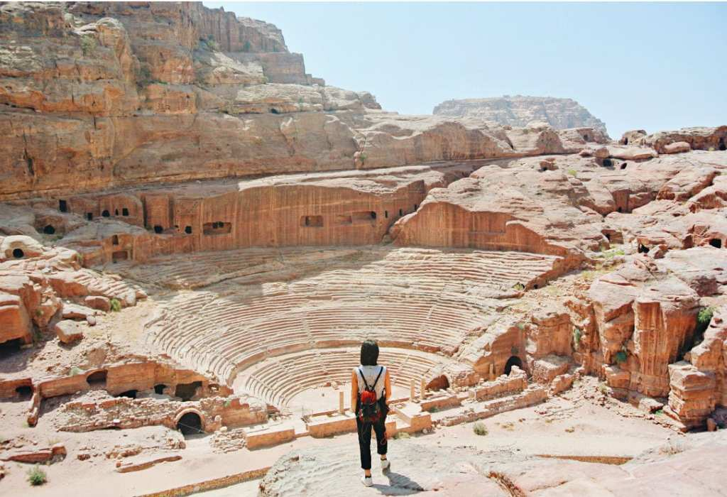 An Ancient Rock Cut Amphitheater in Jordan - Positive Experiences in Muslim Countries