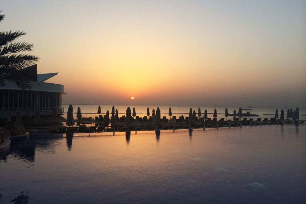 Sunset Over the Water in Qatar - Positive Experiences in Muslim Countries