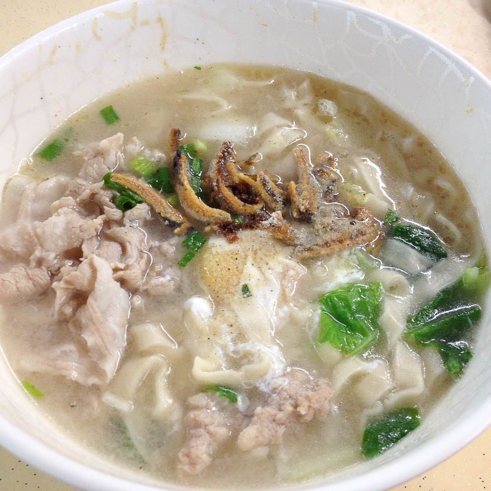 Ban Mian - One of the Hawker foods in Singapore
