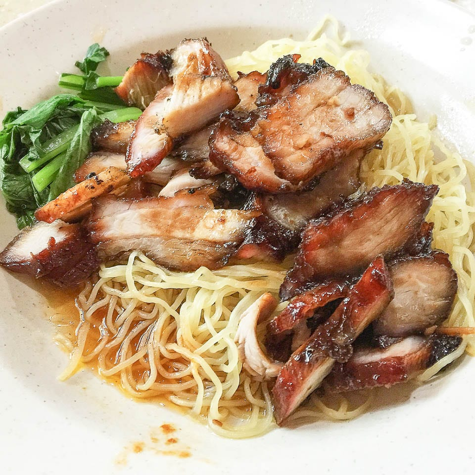 Hawker Foods in Singapore - Wanton Noodle