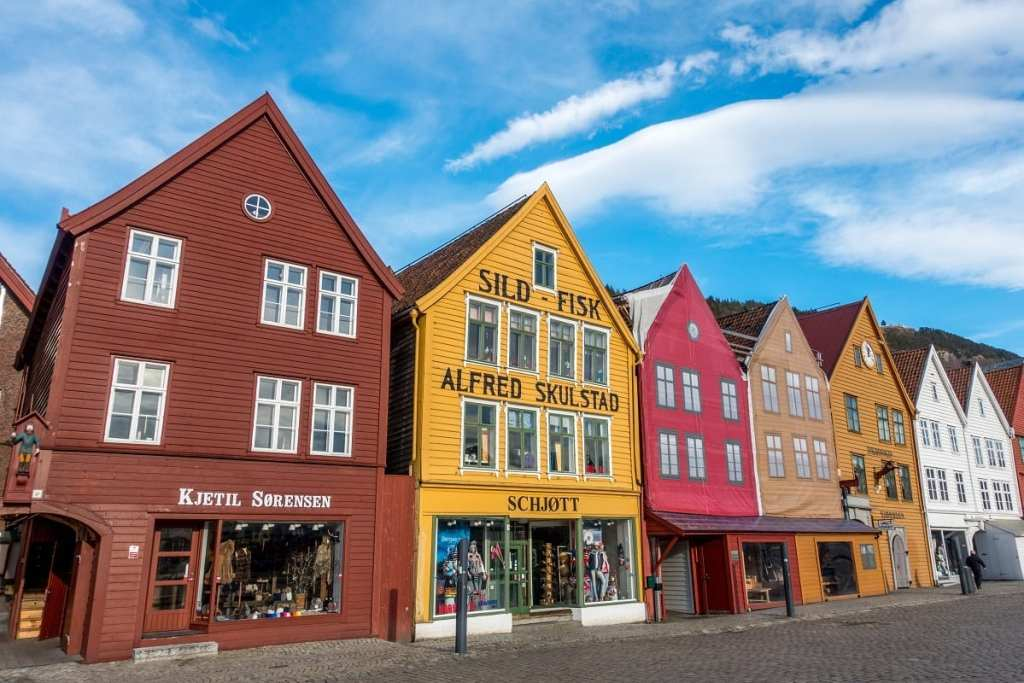 Colorful Houses in Norway - A Winter Trip to Norway, How Much Does it Cost?