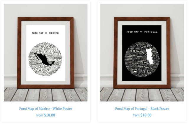 Image of Two Food Maps from Legal Nomads - Best Gifts for Travelers Who Have Homes